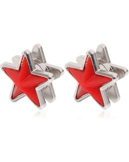Perspex & Metal Star Earrings