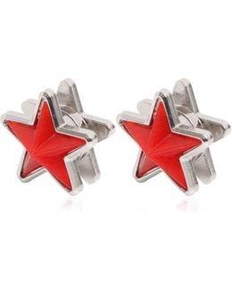 Perspex & Metal Star Earrings