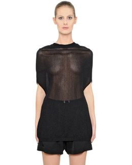 Sheer Viscose Crater Knit Sweater