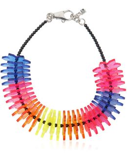 Origami Perspex Flowers Necklace