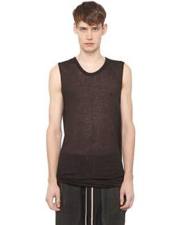 Cotton Jersey Sleeveless T-shirt