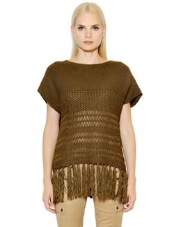 Fringed Cotton Sweater