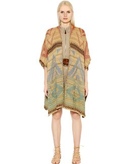 Beacon Cotton & Linen Knit Poncho
