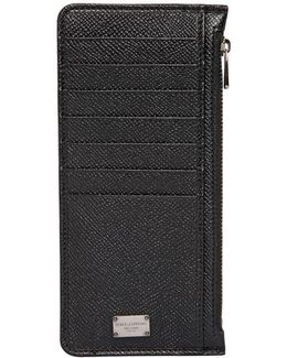 Dauphine Leather Card Holder W/ Pockets