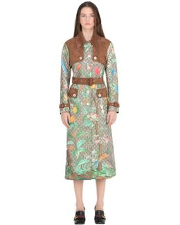 Gg Printed & Coated Canvas Trench Coat