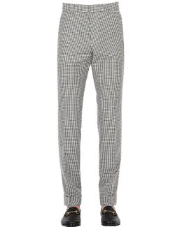 17cm Cotton & Linen Vichy Pants