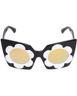 Flower Acetate Squared Sunglasses