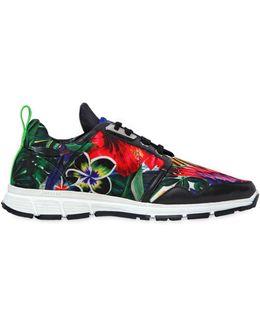 20mm Floral Printed Neoprene Sneakers