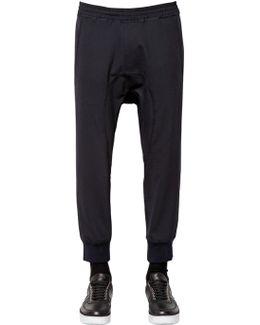 Tech Wool Gabardine Jogging Pants