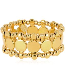 Zacharie Gold Stretch Bracelet