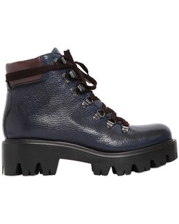 50mm Tumbled Leather Boots