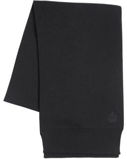 Crown Crest Wool Knit Scarf