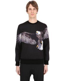 Eagle Printed Neoprene Sweatshirt