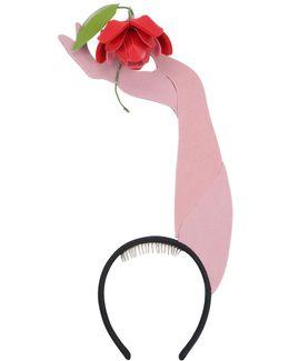 Rose On Hand Headband