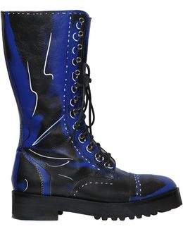 40mm Shadow Leather Boots