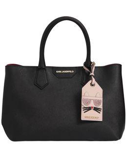 K Saffiano Leather Tote W/ Choupette Tag