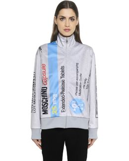 Pill Pack Printed Zip-up Sweatshirt