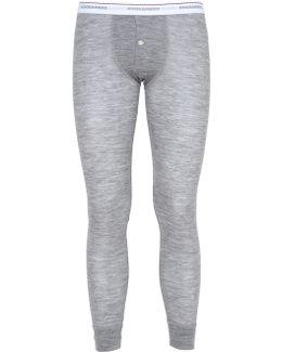 Stretch Wool Jersey Long John Pants