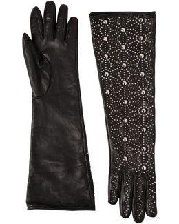 Studded Napa Leather Gloves