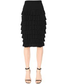 Tiered Jersey Ruffles On Lycra Skirt