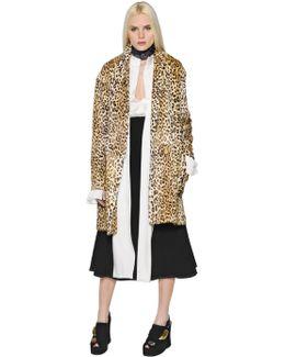 Leopard Printed Goat Fur