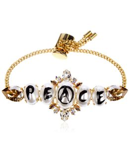 Peace Pearl Mini Chain Bracelet
