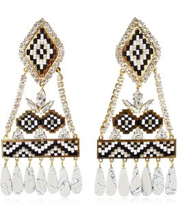 Ramses Black Earrings