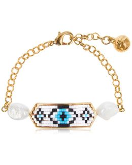 Moodz Pearl Eye Bracelet