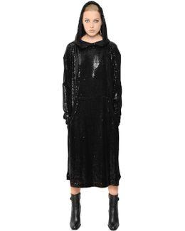 Hooded Sequin Dress