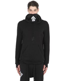 Hooded Cotton Sweatshirt With Thumbholes