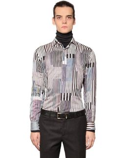Random Striped Cotton Shirting Shirt