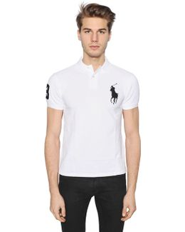 Slim Big Pony Cotton Piqué Polo Shirt