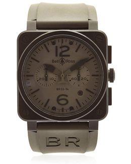 Br 03-94 Chrono Pvd Steel Watch