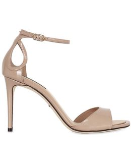 85mm Patent Leather Sandals