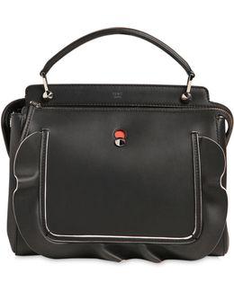 Medium Dotcom Ruffle Leather Bag