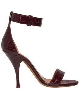 100mm Retra Croc Leather Sandals