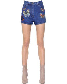 'jamaica Butterflies' Denim Shorts