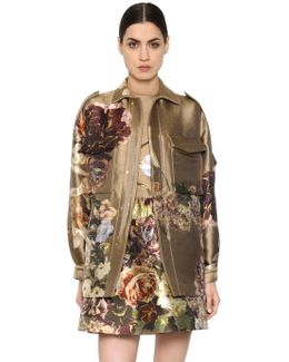 Silk Brocade Jacquard Field Jacket
