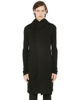 Hooded Cashmere Long Cardigan