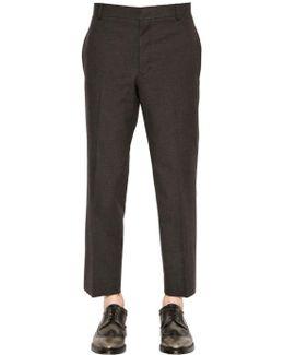 Unhemmed Cotton Pants