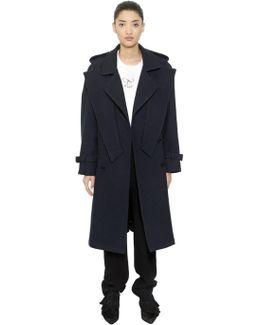Crisscross Wool Trench Coat