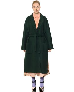 Belted Double Wool Coat
