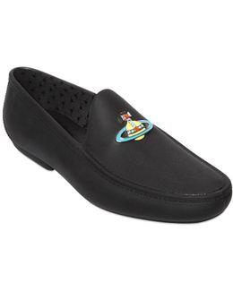 Orbit Appliqué Jelly Loafers
