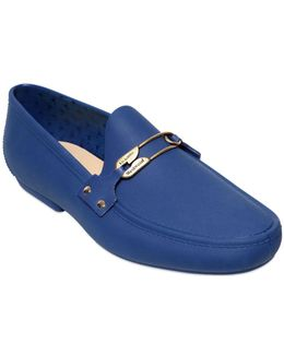 Safety Pin Detail Jelly Loafers