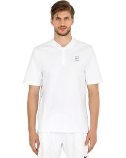 Tennis Court Piqué Polo Shirt