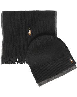 Wool Merino Hat & Scarf Set