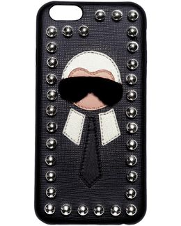 Karl Mink Detail Leather Iphone 6 Case