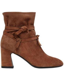 70mm Prismik Suede Knots Ankle Boots