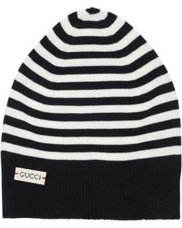 Stripes Wool Knit Beanie Hat