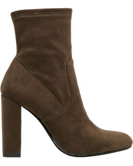 100mm Stretch Microfiber Ankle Boots